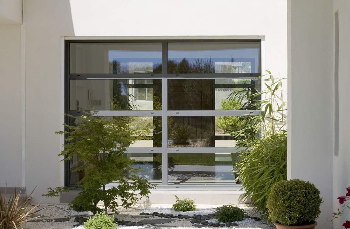 baie vitr e fixe ch ssis alu id al pour des puits de lumi re. Black Bedroom Furniture Sets. Home Design Ideas